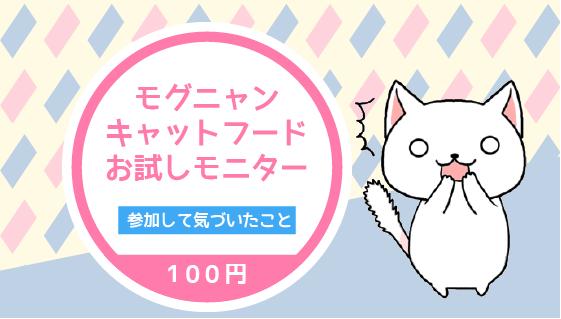 2.5 モグニャン100円モニターに参加して気づいたこと